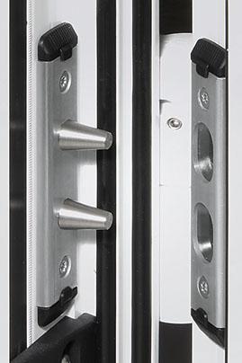 Edelstahl-Duobolzen Haustüren-Sicherheit