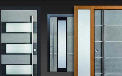 Echtbeton-Haustüren-Design